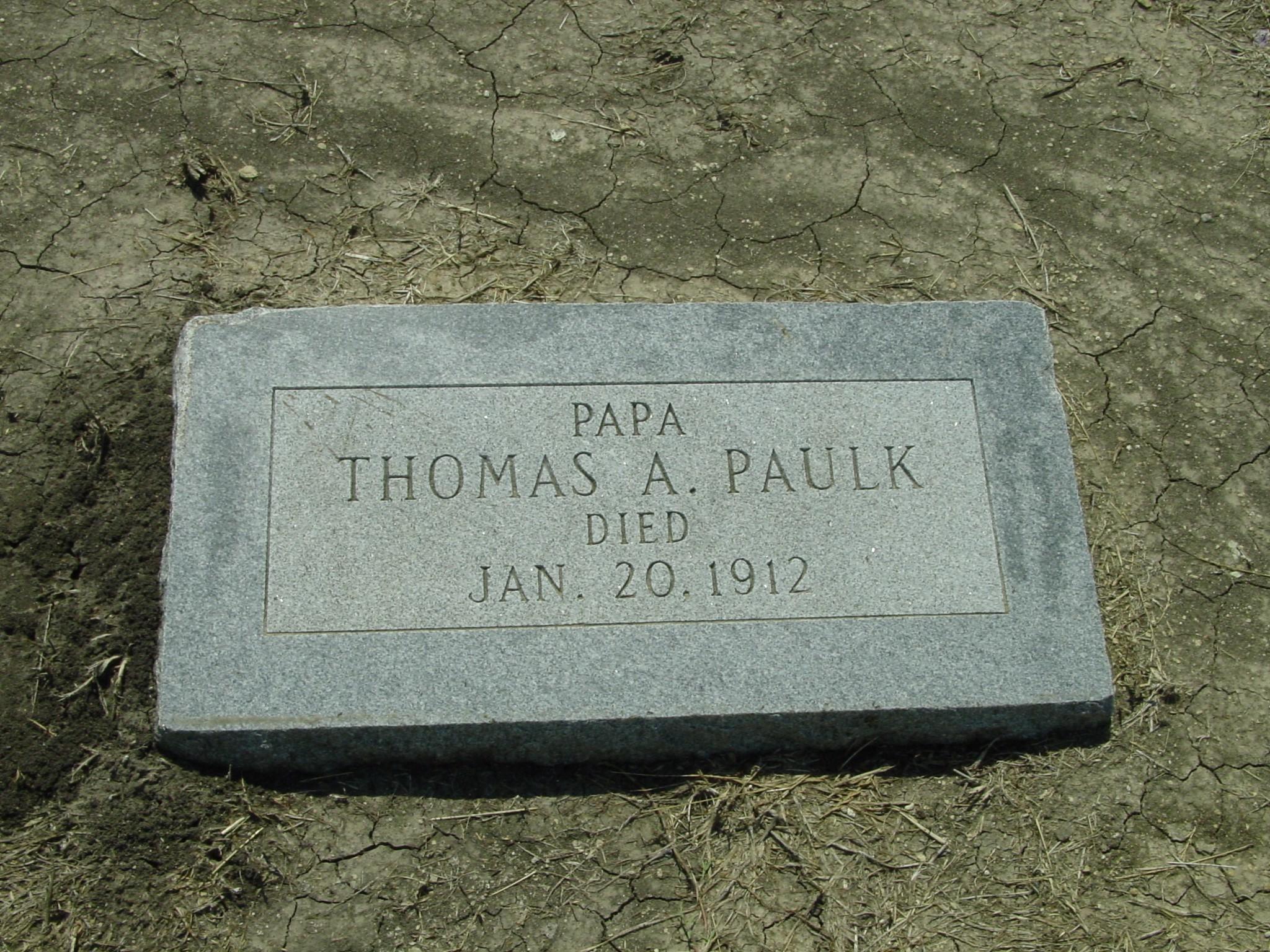 Thomas Aaron Paulk gra...